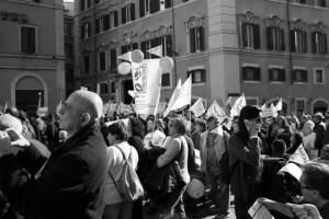 Manifestazione di associazioni di disabili