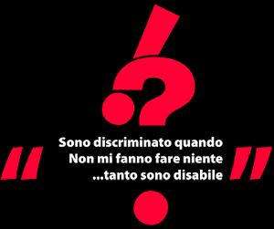"""Schermata dal sito del concorso """"Sapete come mi trattano?"""" - """"Sono discriminato quando non mi fanno fare niente... tanto sono disabile"""""""