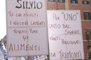 Immagine dalla Manifestazione indetta dalla FISH il 15 novembre 2005 (foto di Marco Marongiu)