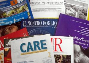 Immagine che racchiude una serie di riviste del sociale e dell'associazionismo