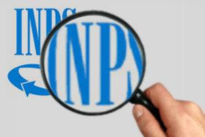Logo INPS sotto lente di ingrandimento
