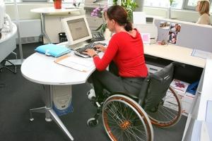 Lavoratrice disabile