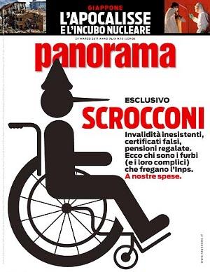 "La copertina di Panorama: ""Scrocconi"""