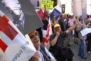Partecipanti alla manifestazione del 23 giugno a Roma