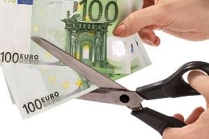 Forbice taglia banconote da 100 euro