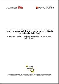 I giovani con disabilità e il mondo universitario nelle Regioni del Sud