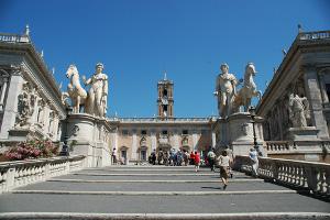Il Campidoglio, sede del Comune di Roma