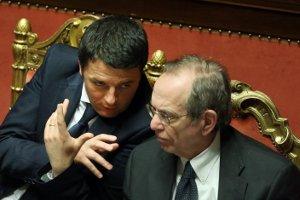 Il Presidente del Consiglio Matteo Renzi ed il Ministro dell'Economia Pier Carlo Padoan