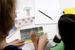 Insegnante di sostegno e alunna