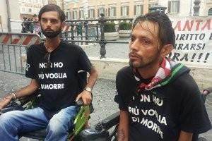 I fratelli Marco e Sandro Biviano in Piazza Monte Citorio