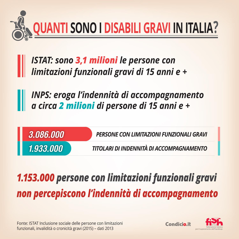 Quanti sono i disabili gravi in Italia?