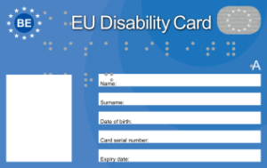 Facsimile EU Disability Card