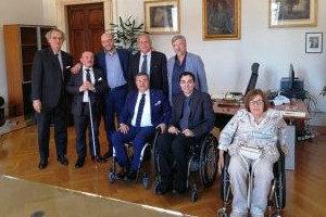 La delegazione della FISH con il ministro per la Famiglia e le Disabilità Lorenzo Fontana e il viceministro Vincenzo Zoccano