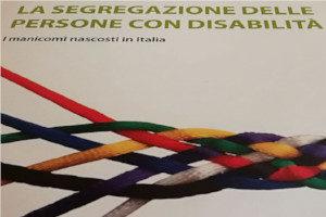 """Copertina del libro """"La segregazione delle persone con disabilità – I manicomi nascosti in Italia"""""""