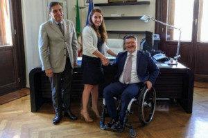 Il presidente FISH Vincenzo Falabella all'incontro al Ministero per la famiglia e le disabilità
