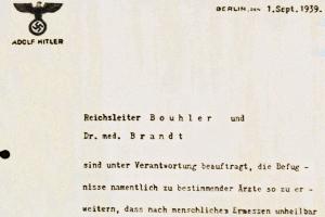 Lettera di Hitler sull'avvio del Programma T4