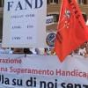 Manifestazione delle persone con disabilità contro il nuovo ISEE